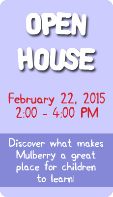 Annual School Open House Feb. 22 from 2-4PM